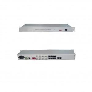 PCM-F04:4*FXO(S)/E&M Ethernet over fiber optical PCM multiplexing,4 voices fiber PCM multiplexing