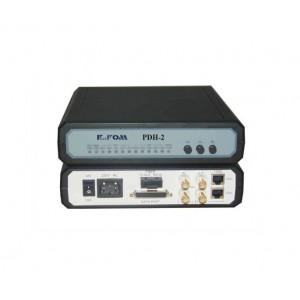 PDH-2:E1 and V.35 fiber optic modem