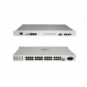 PCM-F30:30 voice FXO/FXS E&M RS232 ethernet E1 over fiber PCM multiplexer