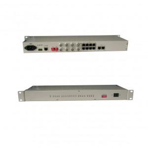 PCM-F08:FXO/FXS E&M 8 channel voice ,E1 ethernet over fiber PCM multiplexer