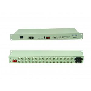 PDH-16L:16 ports E1 1-4 ports 10/100M ethernet PDH multiplexer