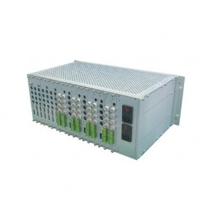 FOV-64:64 optical video converter fiber video multiplexer 64 channels fiber video transceiver
